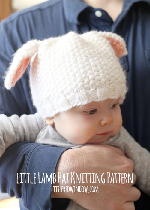 The Little Lamb Baby Hat is as sweet as can be. This free baby knitting pattern features a seed stitch texture that is incredibly soft and cute. The dense, soft texture will be nice and warm for baby's bald head.