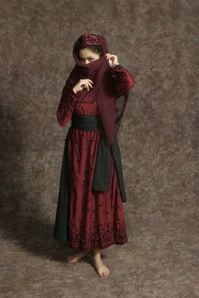 $15.00 Costume Rental  Brother's Wife Red  red overdress, black petticoat, black sash, red hat (2 avail.)