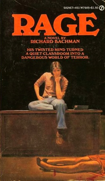 Rage by Richard Bachman (aka. Stephen King!)  Just amazing ... ! Short and keep-you-at-the-edge kind of story.