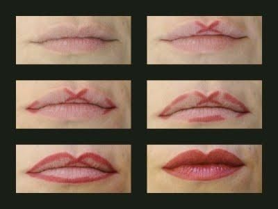 Apply your lipliner like this to get an even cupid's bow shape.  27 beauty hacks