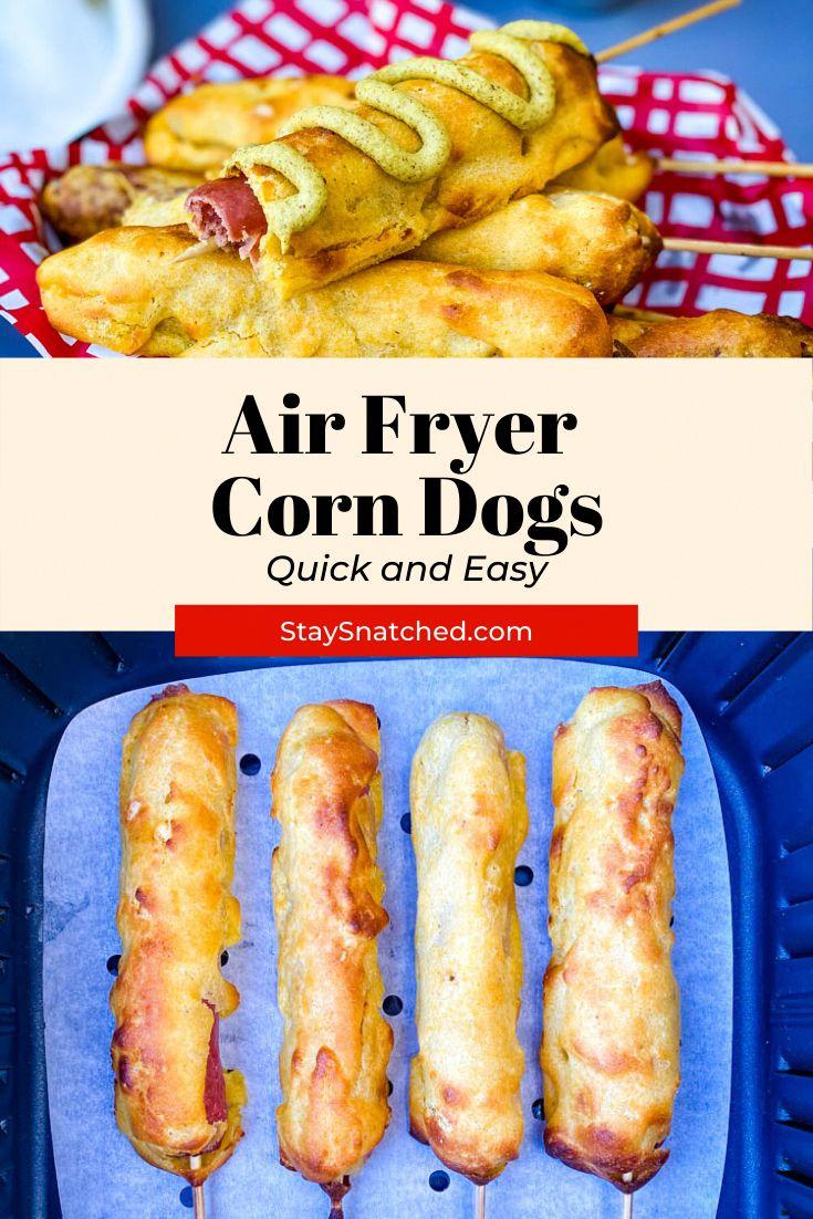 Air Fryer Corn Dogs in 2020 Air fryer recipes easy, Air