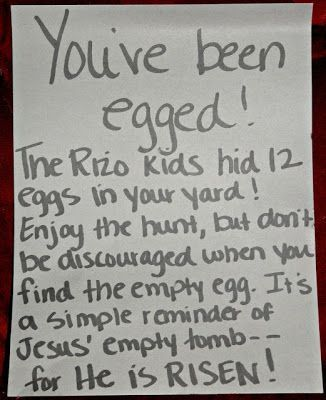 great idea.  Could use at a church easter egg hunt given out extra prizes for the those finding the empty egg.