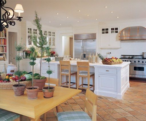 white kitchen cabinets and terracotta floor 17 best images about floor inspirations on 28675