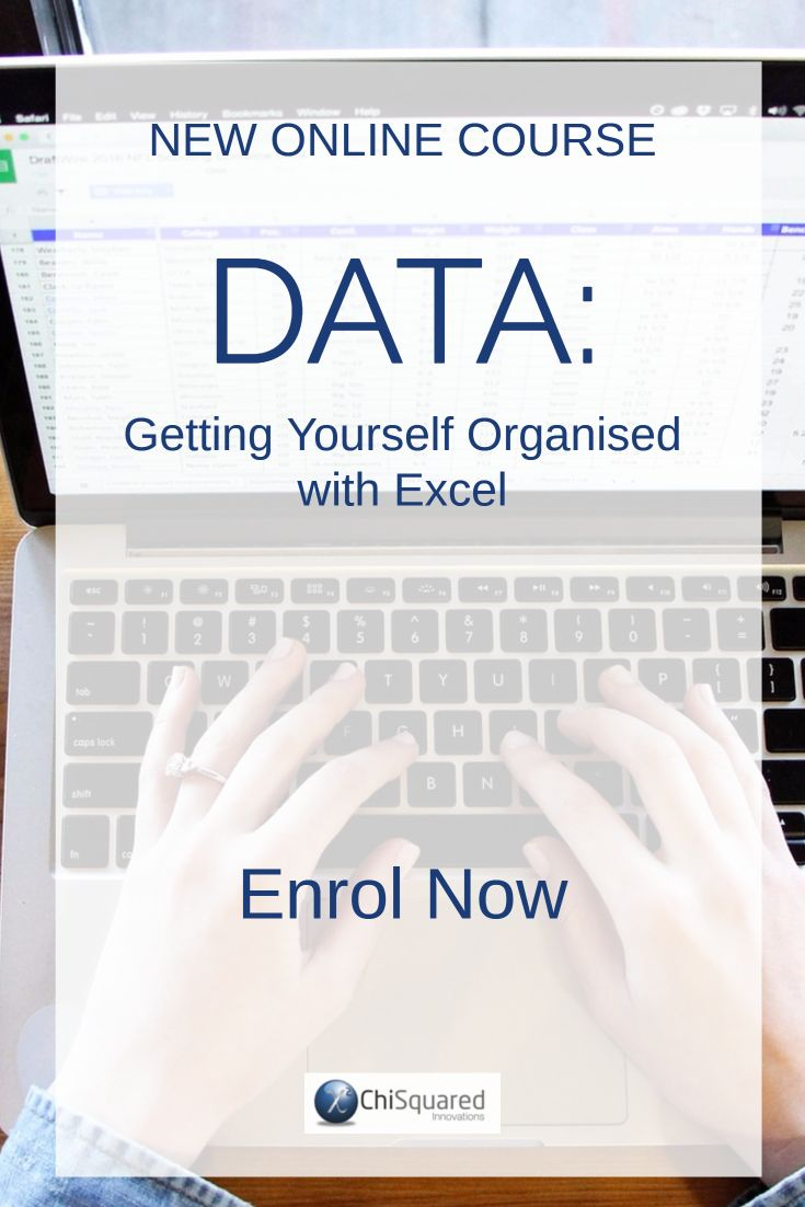 Learn the steps to become more organised and efficient with your data in Excel. Enrol in this course NOW!