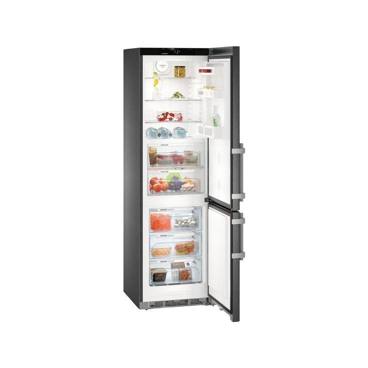 LIEBHERR CBNbs 4815 - BluPerformance, Comfort, A+++ , objem chladničky 148 l., BioFresh 94 l., objem mrazničky 101 l. NoFrost **** 3 zásuvky, ventilátor, BlackSteel - černá nerez.