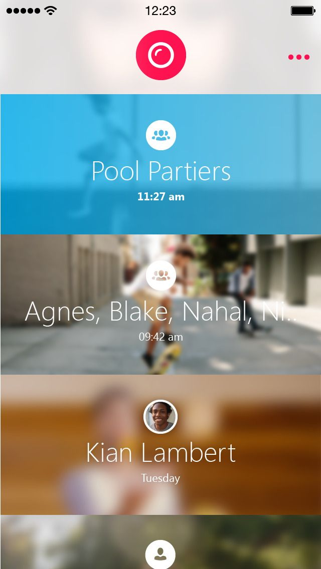 Skype Qik: Group Video...
