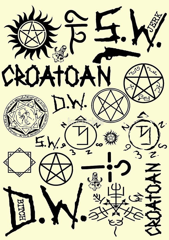 Картинки татуировок из сверхъестественного