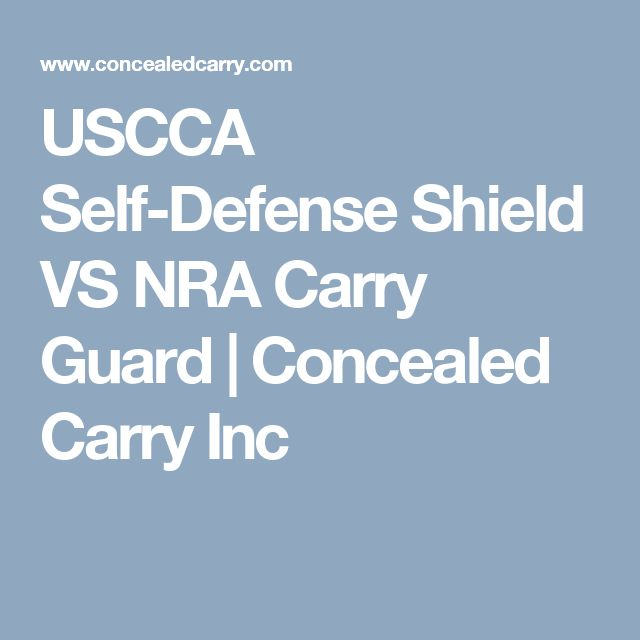Self Defense Shield And Carry Guard Two Different Programs