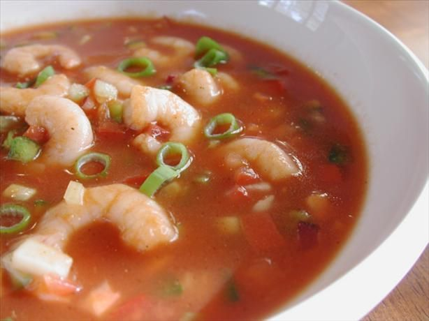 Zesty Tequila Shrimp Gazpacho. Photo by Chef floWer