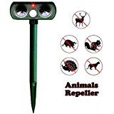 2016 Nr.1 BestSeller Weatherproof Solar Powered & ReChargeable Battery Operated UltraSonic Cat, Fox, Pest Repeller - Ultrasound Animal Deterrent, Repellent, Scarer & Chaser Sonic - Suitable for Garden, Yard, Farm, Outdoor - FREE 25cm No Rust Aluminium Ground Spike & FREE BATTERIES INCLUDED: Amazon.co.uk: Pet Supplies