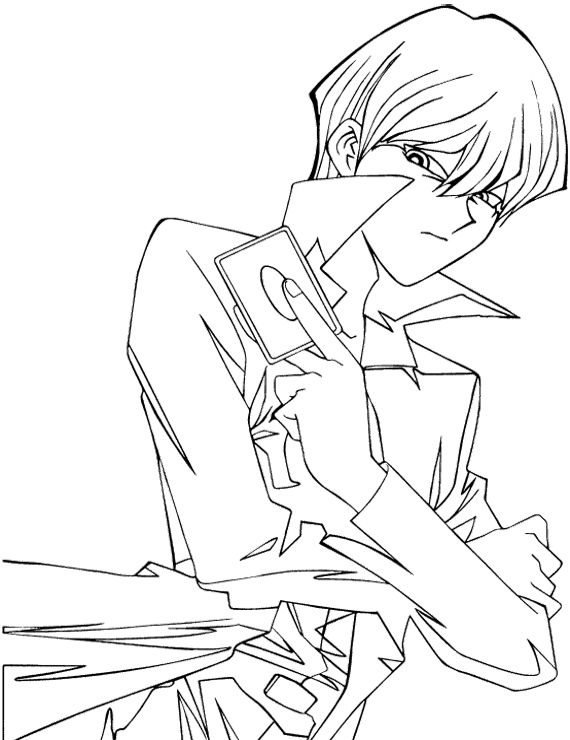 seto kaiba coloring pages yu gi oh coloring pages kidsdrawing free coloring pages