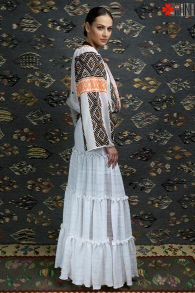 Ie Traditionala Romaneasca Maneca Lunga Motivul Cucuteni
