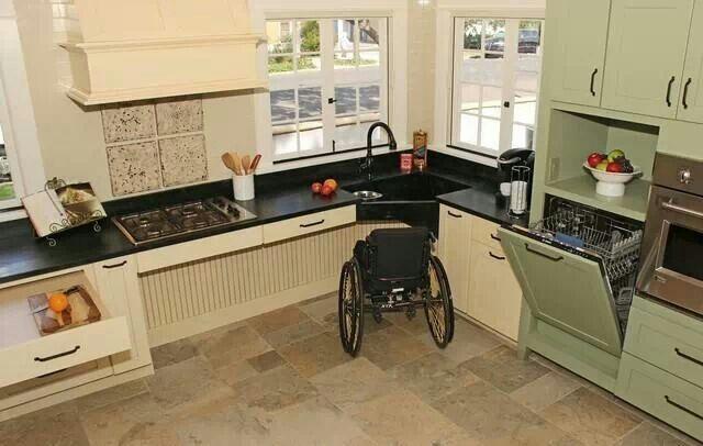 Wheelchair Accessible Upper Kitchen Cabinets