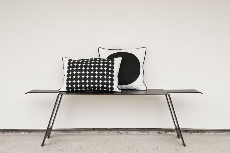 Pillow Loving: Albert & Gunnar - crush on the blank and white minimalist look on our blog