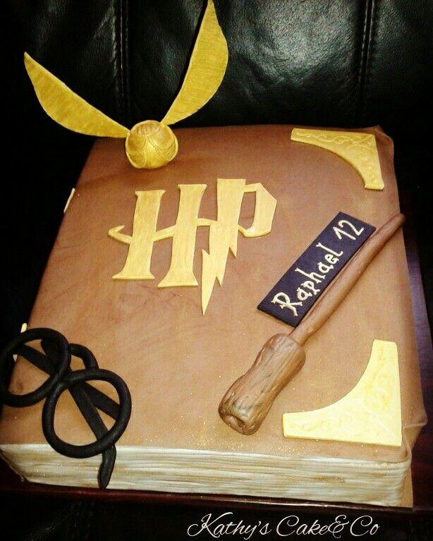 Harry Potter Buch Torte Harry Potter Book Cake Motivtorten Kochen Und Backen Essen