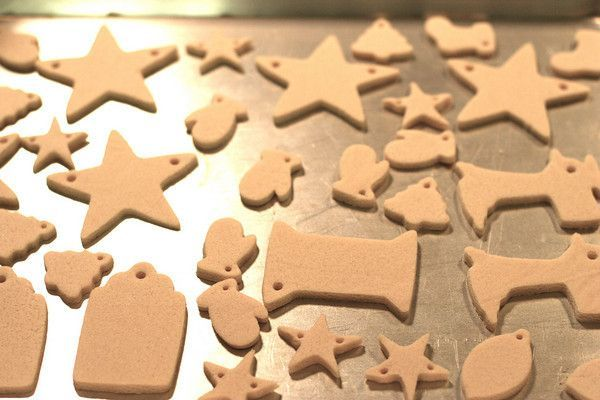 Homemade salt dough ornaments! The best recipe! It actually works great! :) Great way to celebrate Baby's First Christmas!
