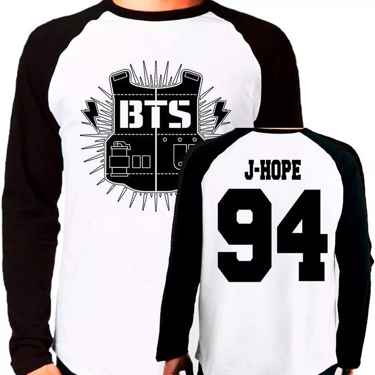 684a8ffcbb camiseta blusa kpop bangtan boys bts j-hope raglan longa