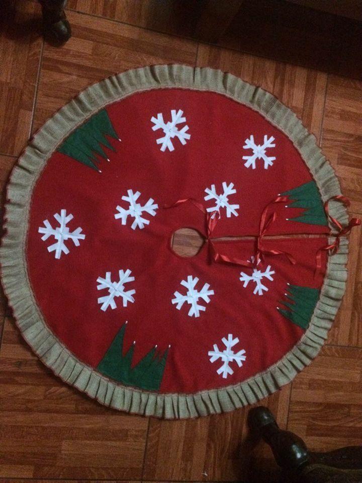 Pie de árbol de navidad
