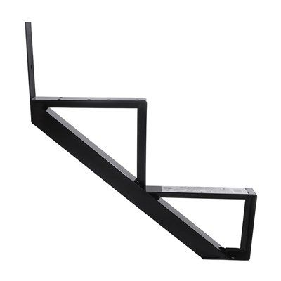 Best Pylex Deck Stair Stringer 14052 2 Step Black Aluminum 400 x 300