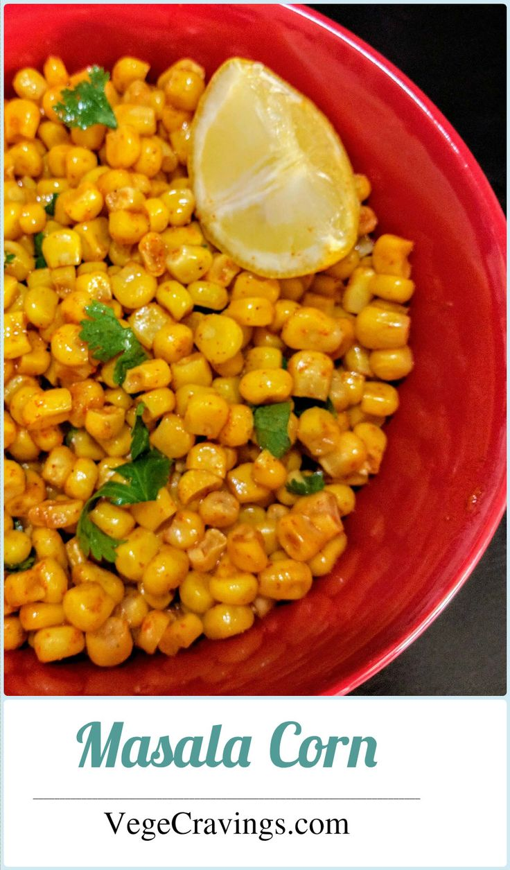 Boiled corn coated in butter and spices. Ready in a jiff.