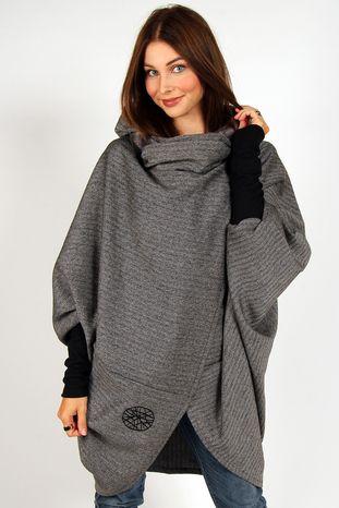 Volcano Icelandic Design - Vendingur grey/plaid in hoodie