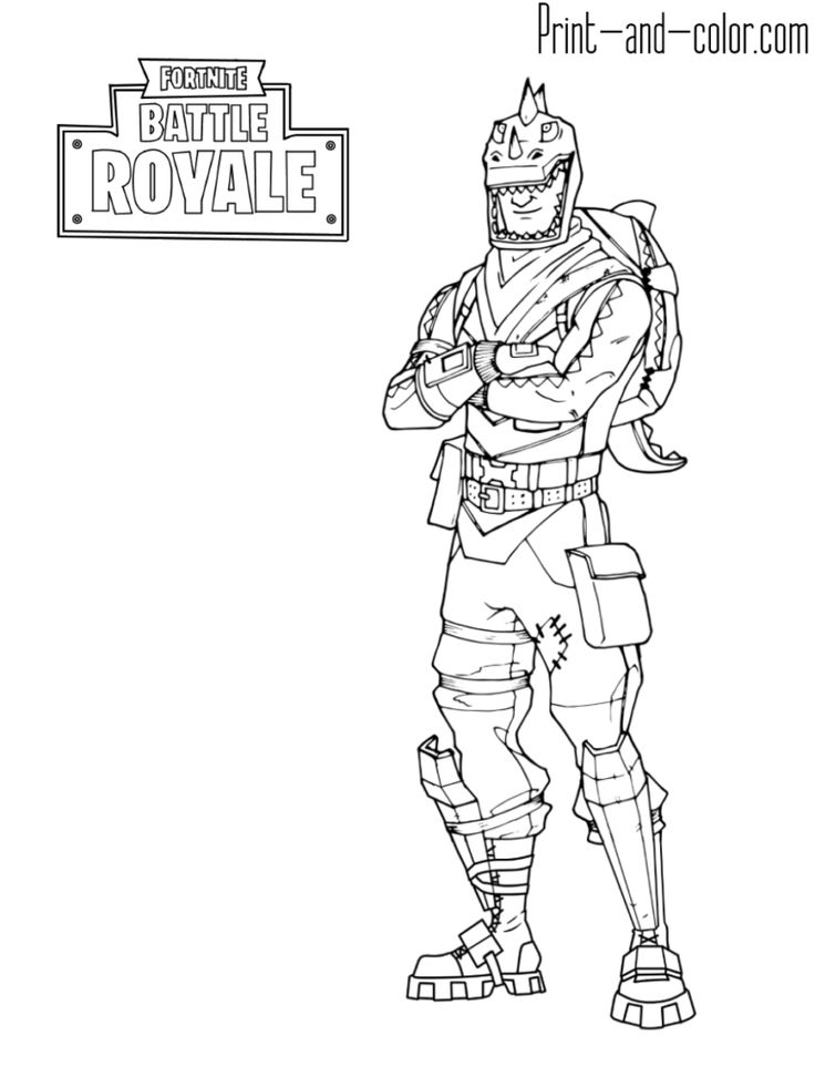 Fortnite Battle Royale Coloring Page Rex Fortnite In