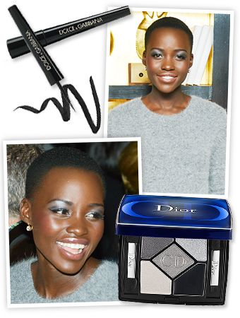 Lupita Nyong'O continues to be one of our rising style icons — check out her glamorous red carpet ensembles if you need further proof — and the steely silver eye makeup she wore to an event in New York City is her latest look we'll be trying out this week.  #maquiagem #prata #pele #negra