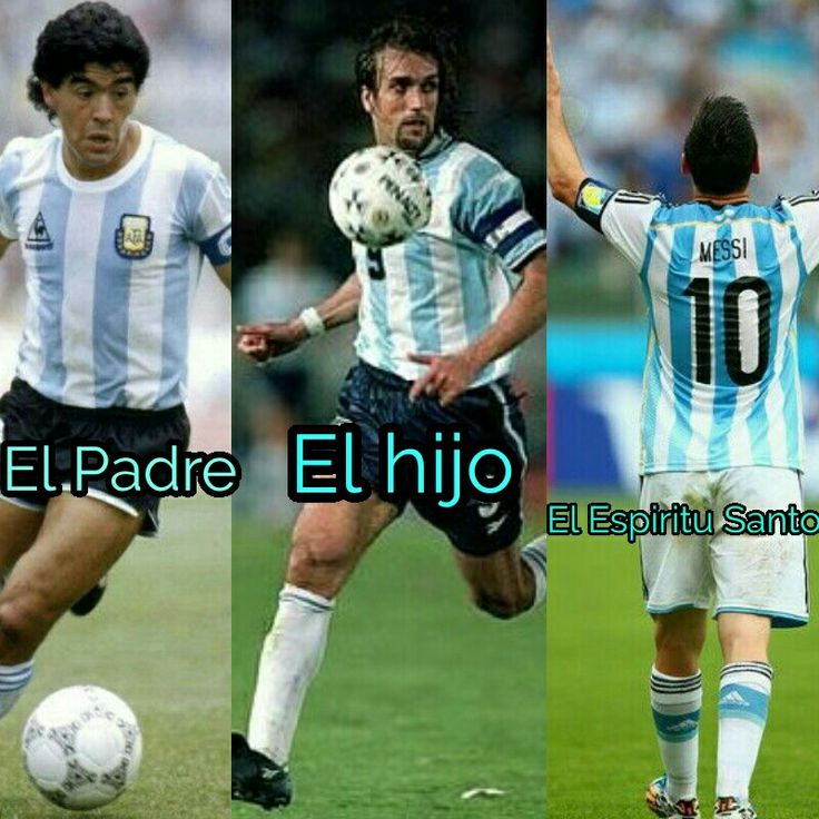 #Maradona #Batistuta #Messi #Argentina #El #Padre #El # Hijo #y #El #Espiritu #Santo #Futbol