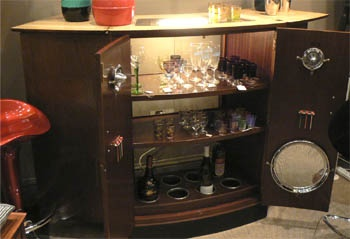1950s Turnidge Of London Bar Drinks Cocktail Cabinet With