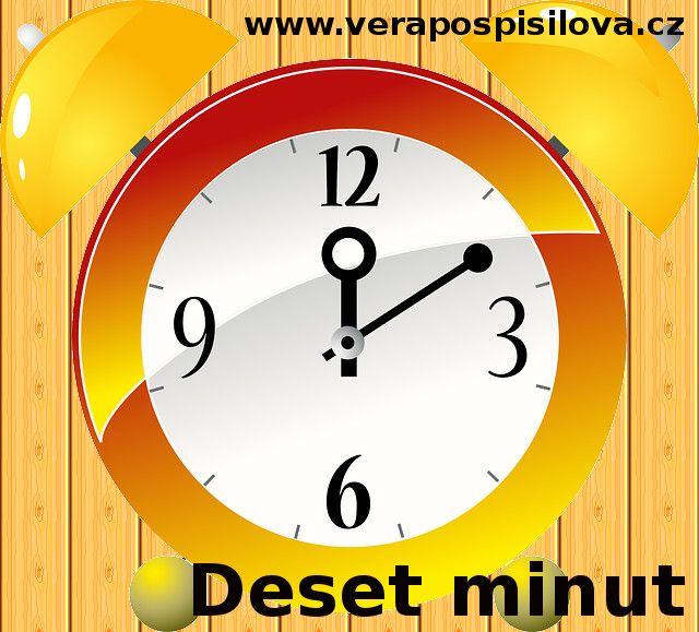 """Co pro vás znamená čas? Umíte si toho svého vážit?  Jak často používáte slova """"nestíhám"""", """"nemám čas"""" nebo """"to nemá cenu""""? Přečtěte si článek zde: http://www.verapospisilova.cz/blog/50-desetminut"""