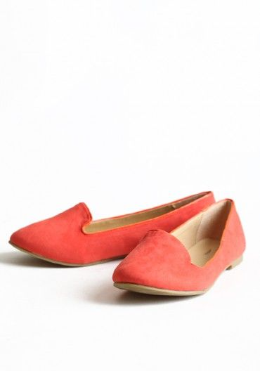 Tangerine: Spring Shoes, Color, Greatest, Coral Loafers, Modern Vintage, Coral Flats, 29 Tangerine, Vintage Shoes, Tangerine Loafers