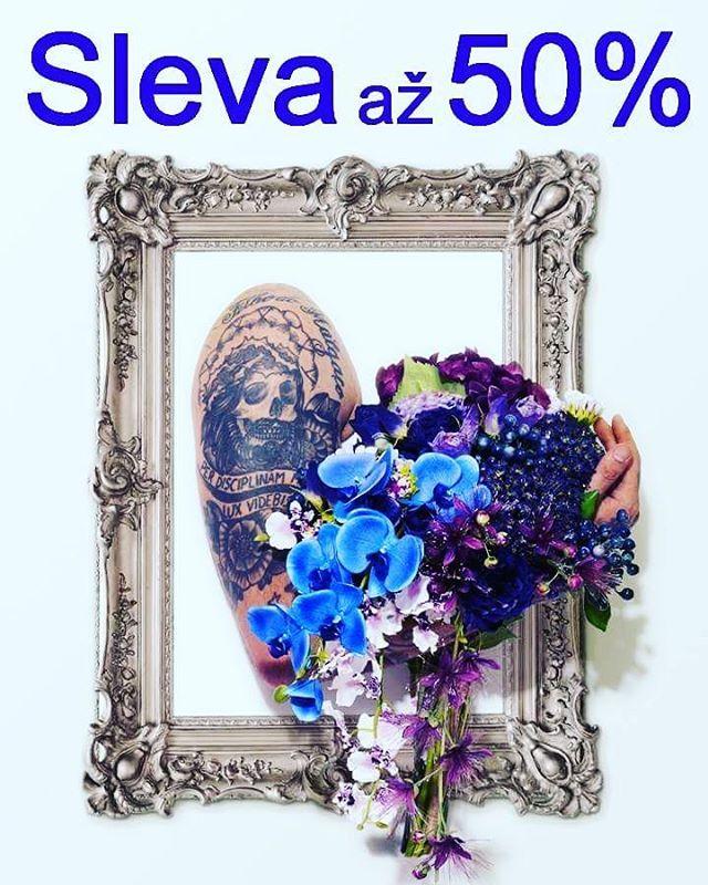 Sleva až 50% na umělé květiny pro měsíc květen Těšíme se na návštěvu