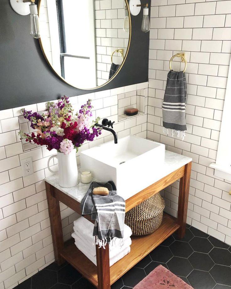 Utiliser le carrelage métro dans los angeles salle de bain