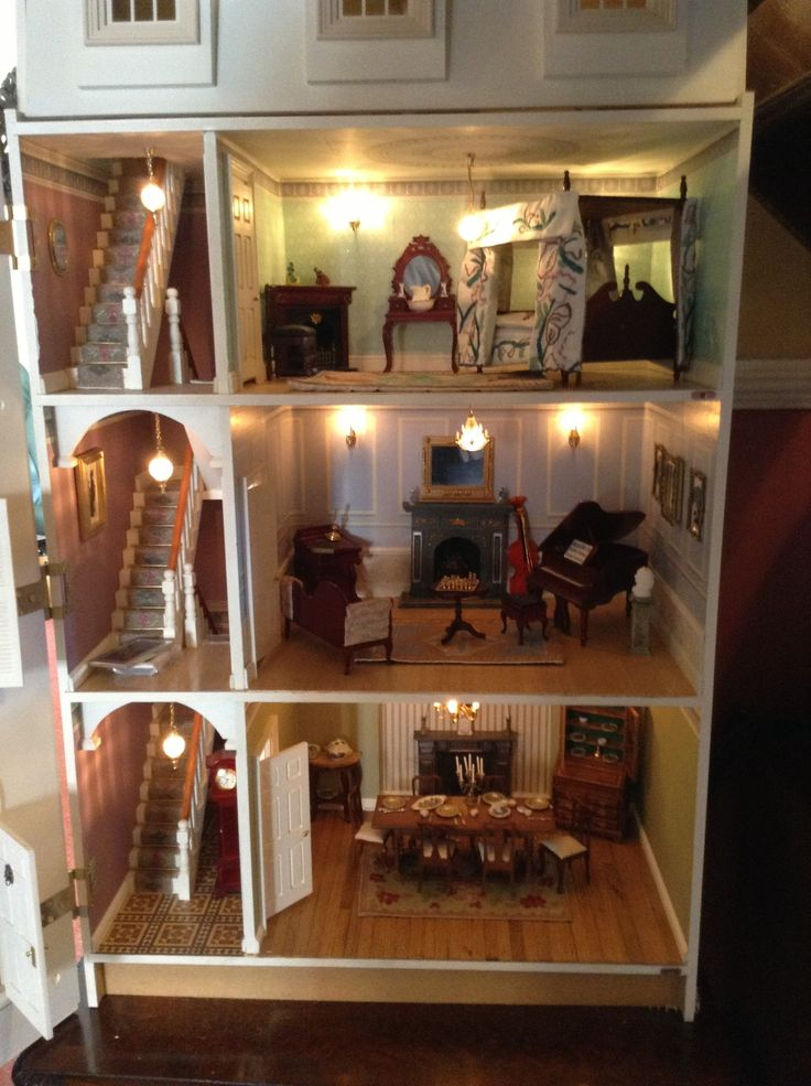 Georgian Dolls House Interior Gregorian Style Pinterest
