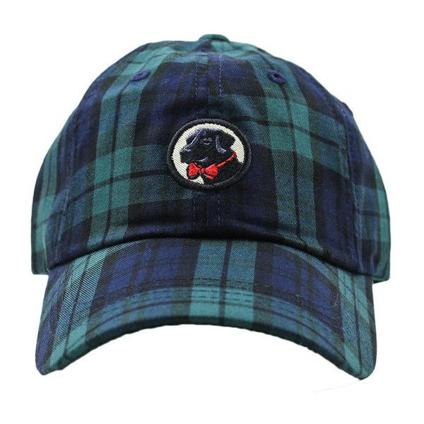 Frat Hat in Navy Tartan Plaid by Southern Proper (£20) ❤ liked on Polyvore featuring accessories, hats, southern proper, navy blue hat, plaid hat, tartan hat and navy hat
