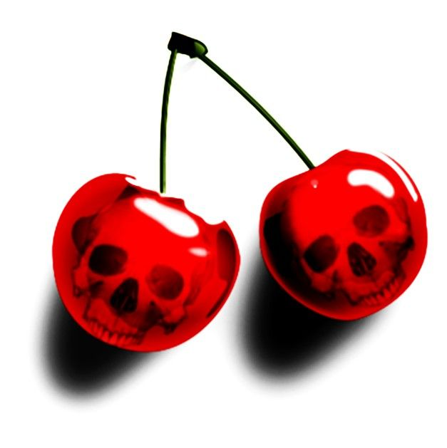 #Caveiras ☆ *  Cherries / Cereja *