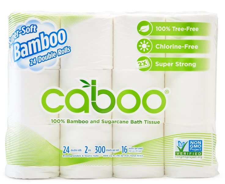 Caboo Bamboo & Sugarcane 2ply Toilet Roll - Pack of 24 | Ethical Superstore £13.30
