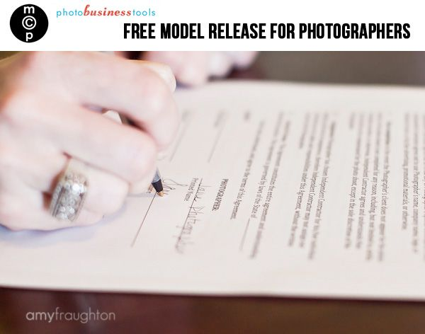 Free Model Release Form for Photographers. This will (hopefully) come in handy someday!