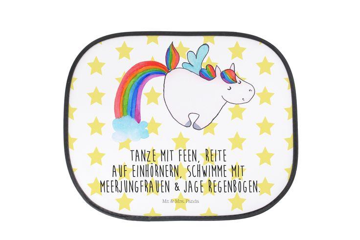 Auto Sonnenschutz Einhorn Pegasus aus Kunstfaser  Natur - Das Original von Mr. & Mrs. Panda.  Der einzigartige Sonnenschutz von Mr. & Mrs. Panda ist wirklich etwas ganz Besonderes - er hat die Größe 38x44 cm und wird mit zwei Saugnäpfen ausgeliefert. Im Lieferumfang ist ein Sonnenschutz inkl. 2 Saugnäpfen enthalten.    Über unser Motiv Einhorn Pegasus  Das fröhliche Pegasus-Einhorn zeigt, dass die Phantasie viel schönere Dinge bietet als die Realität. Wer will schon shoppen gehen, wenn man…
