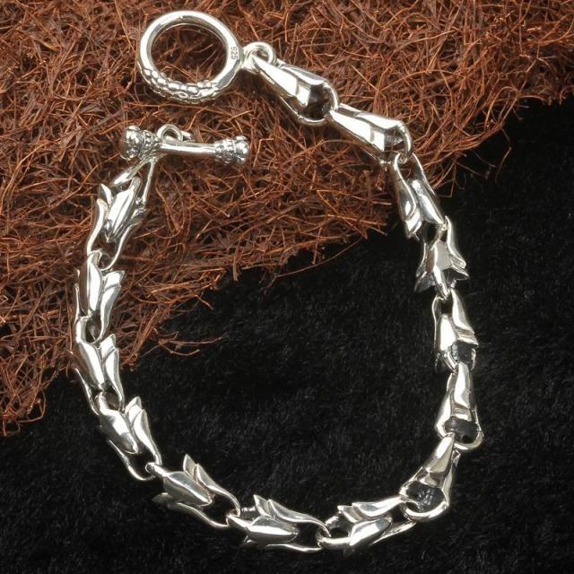 Подарок на день рождения винтаж s925 чистого серебра тайские серебряные ювелирные изделия мужчины аксессуары 16 #
