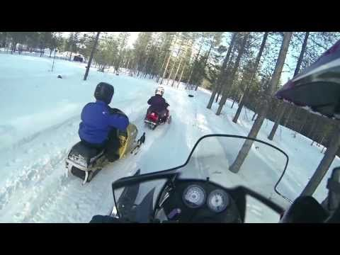 Children Snowmobiling with Arctic Circle Snowmobile Park
