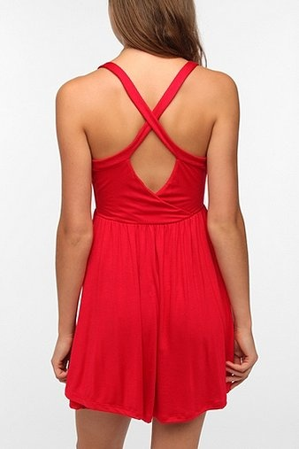 Pins and Needles Knit Surplice Dress