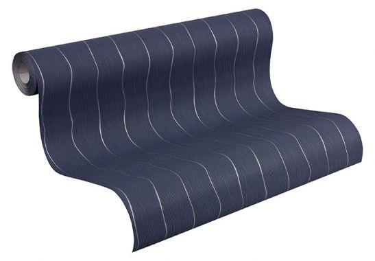 mustertapeten mustertapete sch ner wohnen vliestapete private glam blau grau home. Black Bedroom Furniture Sets. Home Design Ideas