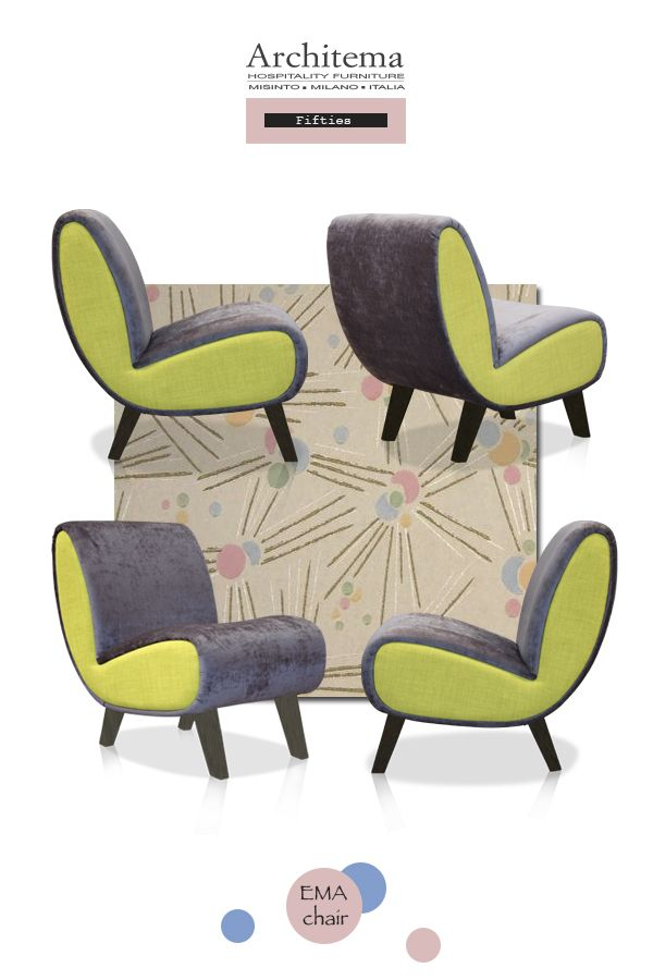 ARCHITEMA - EMA armchair in FIFTIES style