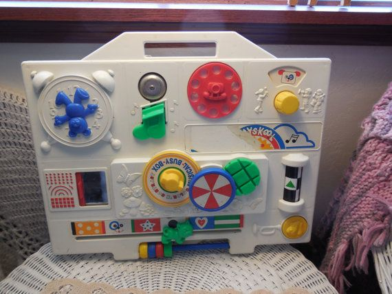 Vintage Playskool Musical Busy Box Baby By