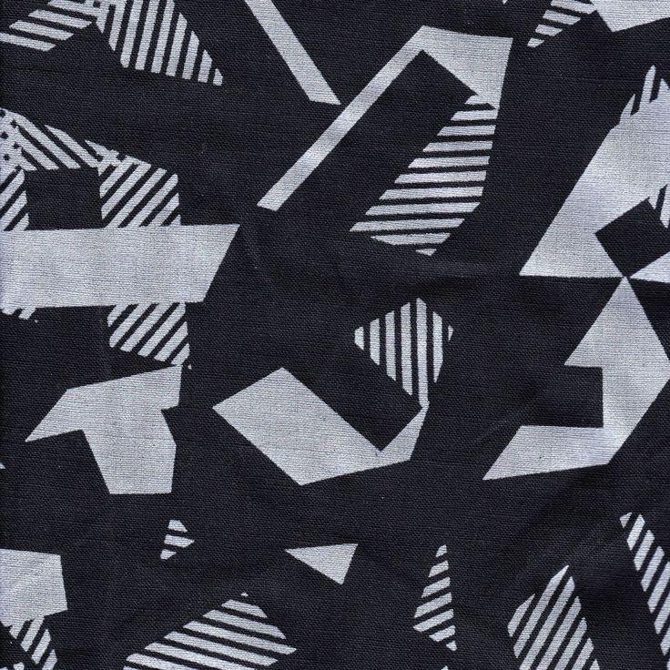 Distinctive Sewing Supplies - Japanese Geometric Print Linen - Silver on Deep Navy, $37.95 (http://www.distinctivesewing.com/japanese-geometric-print-linen-silver-on-deep-navy/)