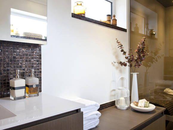 Elegant wash basin and bathroom interior in natural colors bathroom accessories hansgrohe