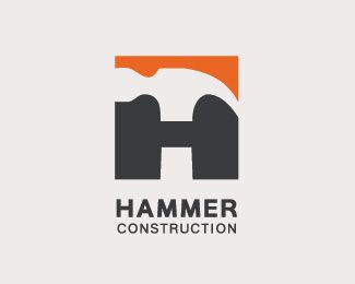 Hammer Construction Logo design - Hammer in H bold shape(Negative space).<br /><br />Suitable for Construction, Home Builders, Engineering, Real Estate... or similar business.<br /> Price $299.00