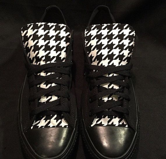 Houndstooth Converse Chuck Taylor chaussures par LoveChuckTaylors