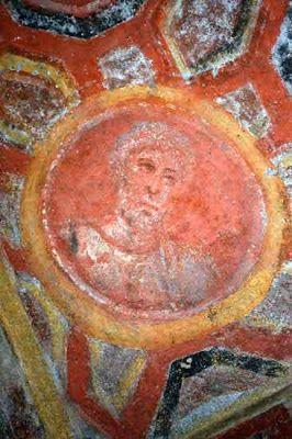 Catacombe di Santa Tecla, Roma, Affresco, San Pietro, la fine del IV secolo